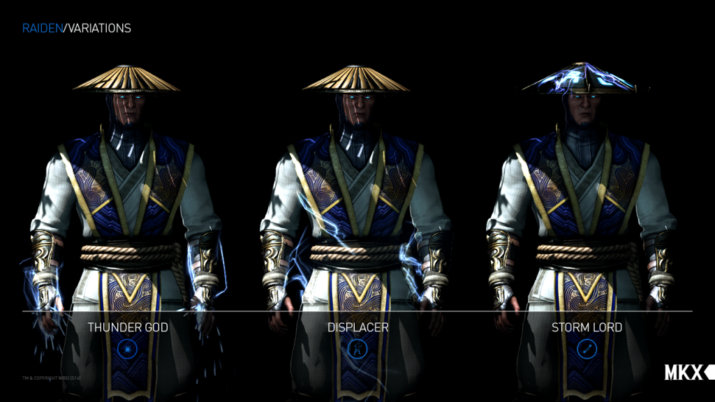 MortalKombatX_RaidenVariations