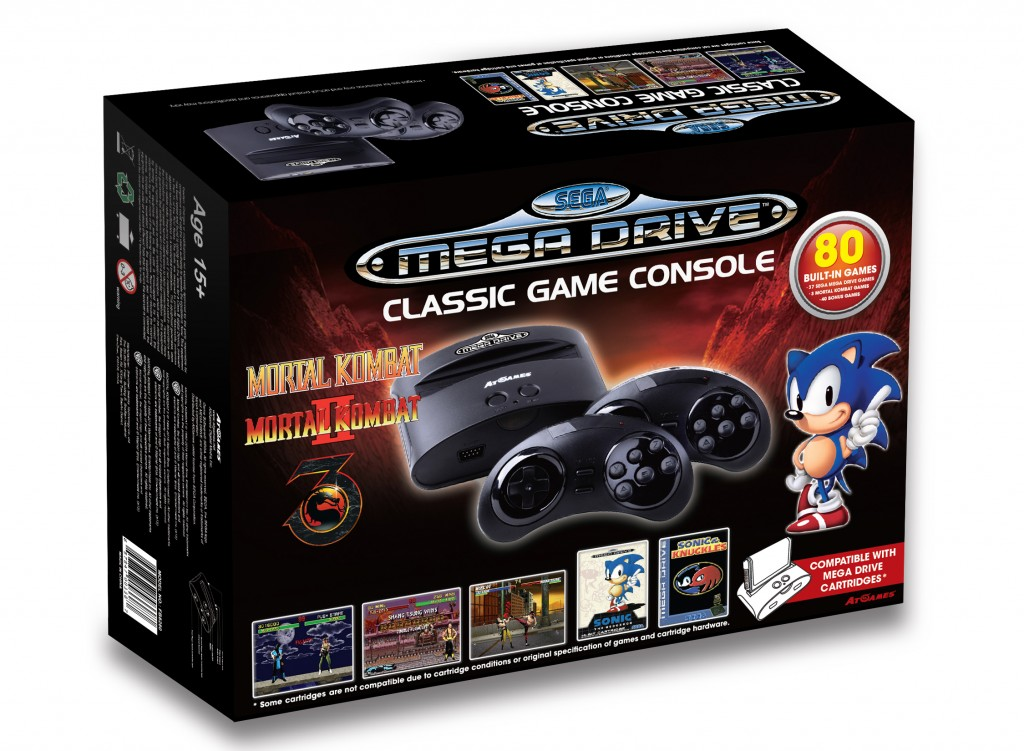 Sega Mega Drive Classic Game Console (FB8280) -box 3D image